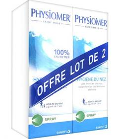 Physiomer Higiène du nez e spray lot de deux 11€90